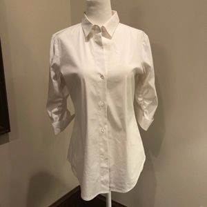White Button Down with Cute Sleeves by Theory